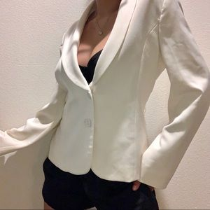 White House Black Market off white blazer